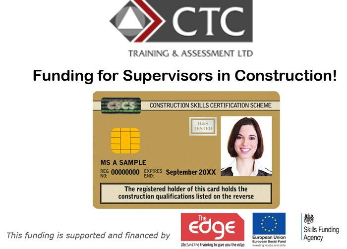 Funding For Construction Supervisors Construction Cumbria Cards