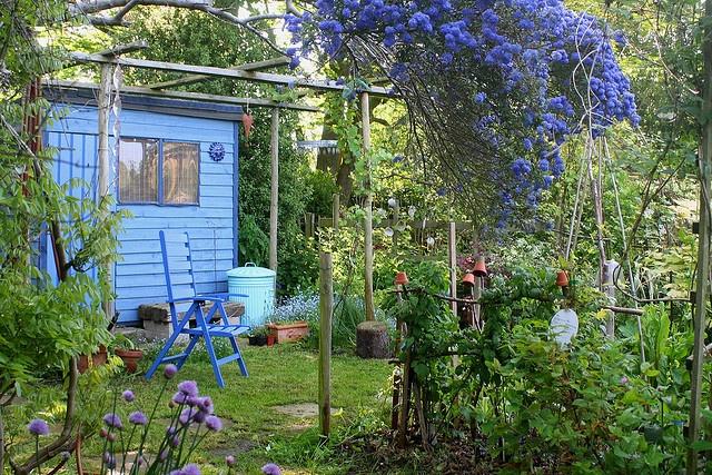 blue house + kitchen garden