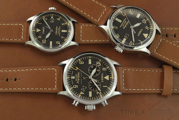 Timex has teamed up with Red Wing Shoes to bring you three brand new watches featuring Red Wing leather straps at a very affordable price point.