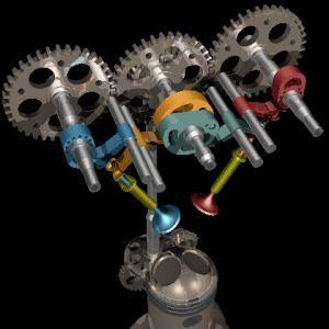 La distribución comprende el grupo de elementos auxiliares necesarios para el funcionamiento de los motores de cuatro tiempos. Su misión es efectuar la apertura y cierre de las válvulas en los tiem…
