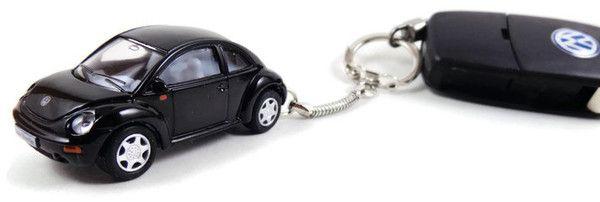 New Black Beetle Keychain