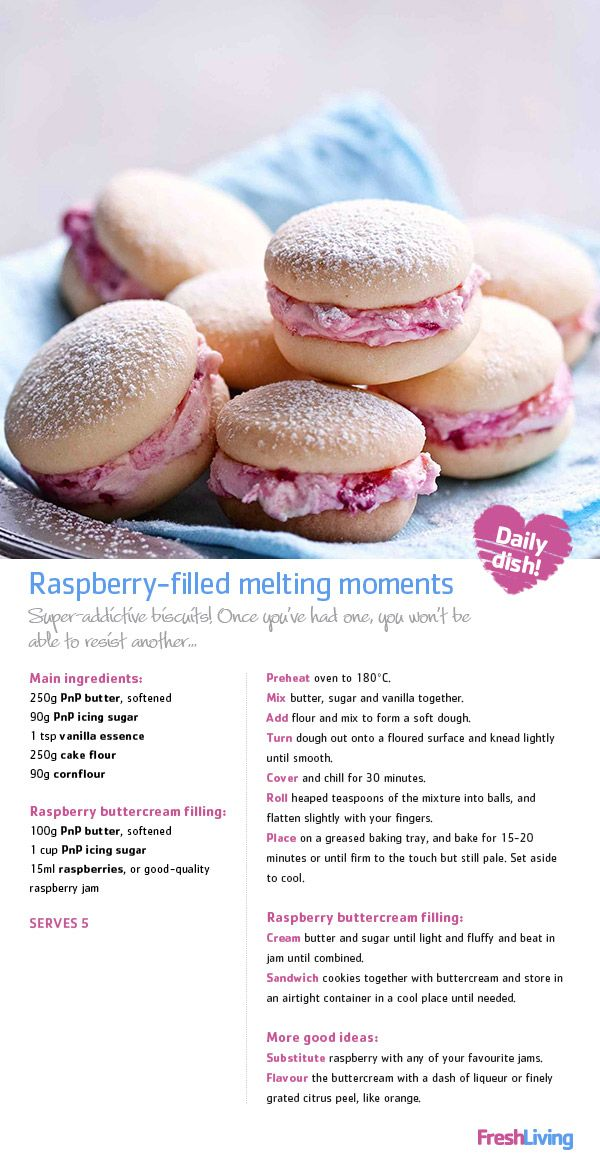 PRECIOUS MOMENTS: Create a beautiful memory – share these raspberry-filled biscuits with your mom on Mother's Day. #dailydish #mothersday #picknpay #freshliving