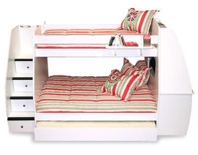Berg Twin over Full Bunk Bed with Desk and Stairs