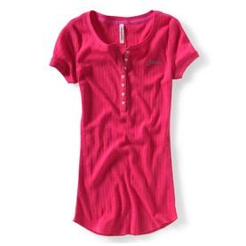 T-shirt rose col rond Aérospostale