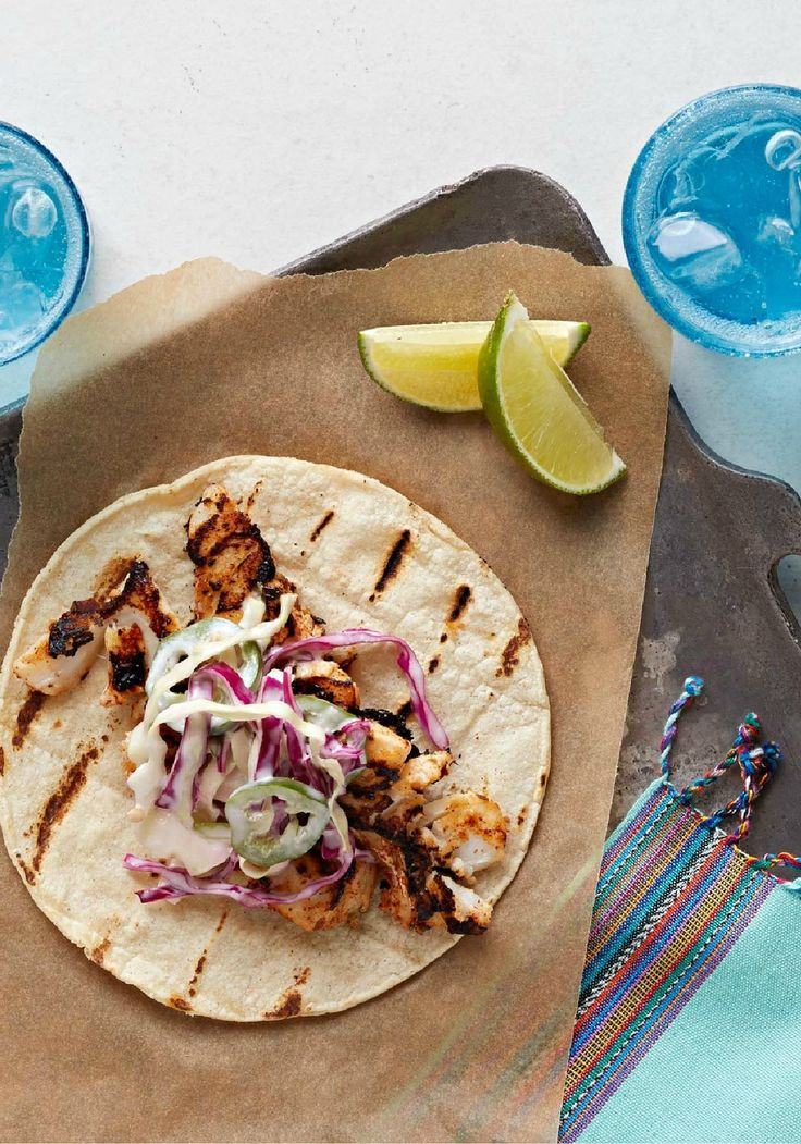 Ancho chile fish tacos with creamy cabbage slaw ancho for Mexican fish dishes