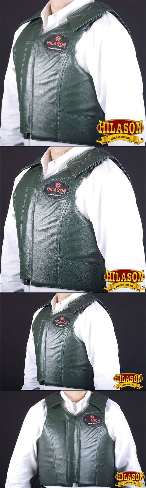 Other Protective Gear 87446: Cpv801nd Hilason Leather Bareback Pro Rodeo Horse Riding Protective Vest - Sml -> BUY IT NOW ONLY: $149.99 on eBay!
