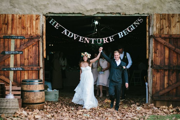 THE ADVENTURE BEGINS! Wouldn't that be a great theme? I love it. //Fun South African Farm Wedding: Lauren  Mike