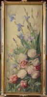 Gabrielle LEMAIRE (1880-1976) Bouquet de fleurs sauvages Aquarelle Signée en bas à[...], Entier Mobilier d'un Appartement Place des Etats-Unis à Paris (16ème) et d'un Château en Bourgogne at Osenat
