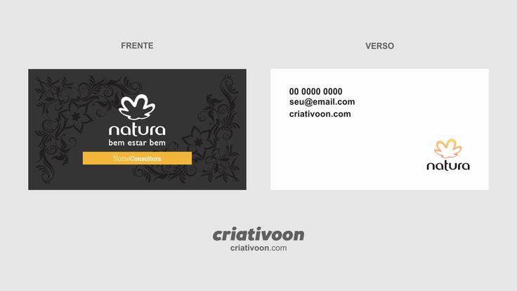 Cartão de visita para consultora Natura