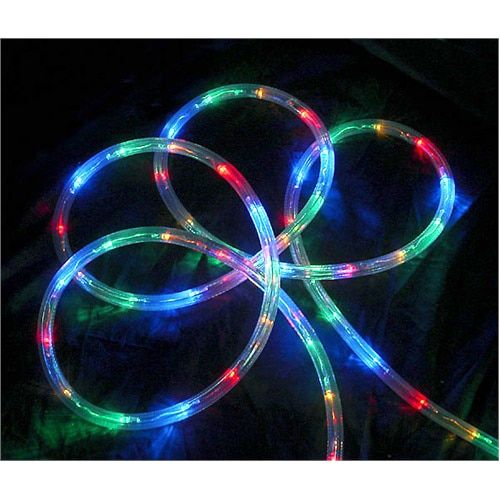 "18' Multi-Color LED Indoor/Outdoor Christmas Rope Lights - 2"""" Bulb Spacing"