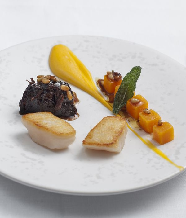 Juicy, succulent scallops, beer-braised beef and butternut squash two-ways add up to a vibrant and original take on surf and turf from seafood extraordinaire Tony Fleming. A few of the elements in this scallops with beef recipe can be prepared ahead of time to ease the last-minute stress.