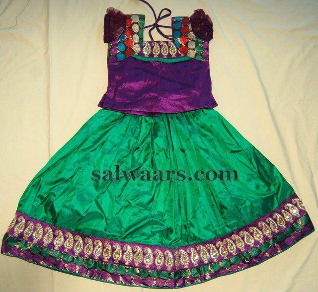 Indian Dresses: Mango Work Indian Kids Lehenga