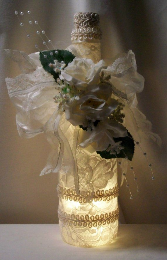Victorian+wedding+favors | Ivory Victorian Chic Wedding Lighted Bottle  Favor By AmericanBride