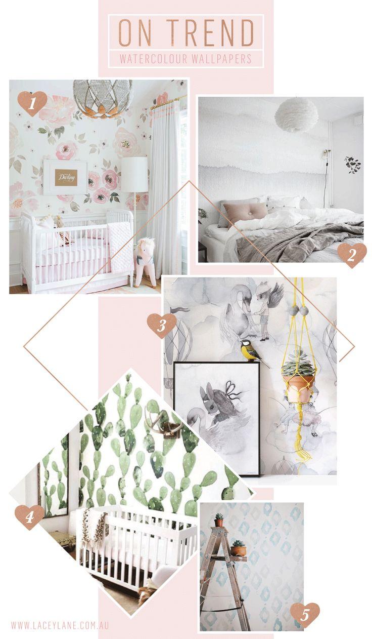 Interiors Trend - Watercolour Wallpaper | #Mumlife