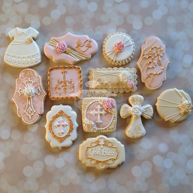 @natsweets - Fancy Vintage baptism set for a baby girl in... - Enjoygram