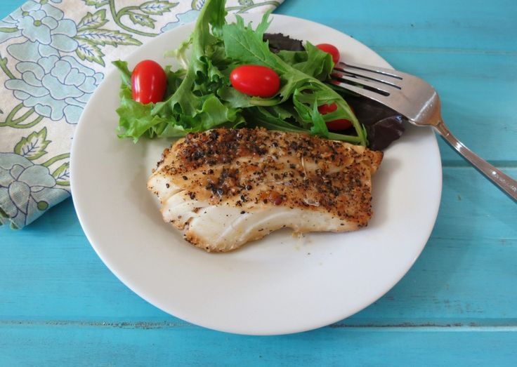 Lemon Pepper Grilled Cod  - A light, flaky grilled cod fish brushed with butter and soy and topped with lemon pepper seasoning.