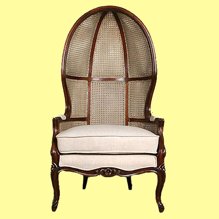 French Canopy Chair In Mahogany