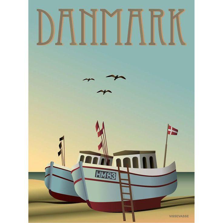 DANMARK - Fiskebådene, 50x70 cm