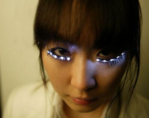 led light lashes cheap LED rave gloves