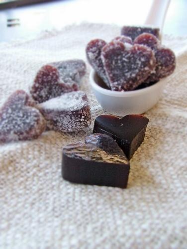 Blackcurrant jelly hearts