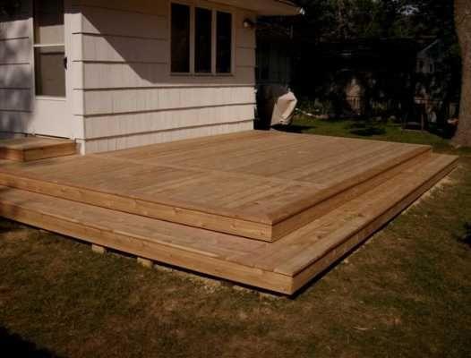 17 best ideas about platform deck on pinterest wood for Small platform deck design