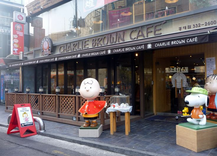 charlie brown cafe in seoul south korea