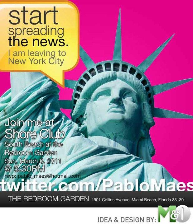 Farewell Party invitation Design  Client: Pablo Maes  Miami, Florida.
