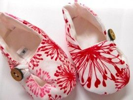 Buster Boo - Squiggle Flowers Fabric Baby Shoes