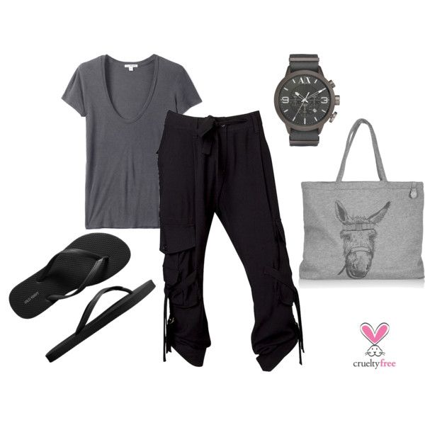 Black & Gray, created by pbmhuck on Polyvore