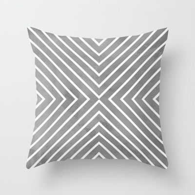 Stripes in Grey Throw Pillow by Brandy Coleman Ford - $20.00
