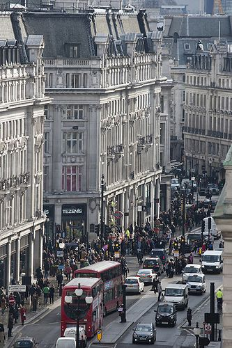 Regent Street, London @ Oxford Circus One of my favorite places!!!! Love love love London!!!