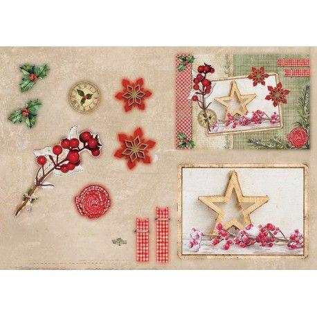 Bloczek papierów do tworzenia kartek i scrapbookingu - Studio Light - Classic Christmas - Die Cut Foil Block