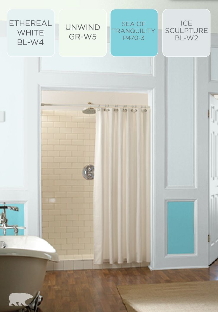 Create A Serene Oasis In Your Bathroom With Calming Hues. This BEHR Paint  Color Scheme