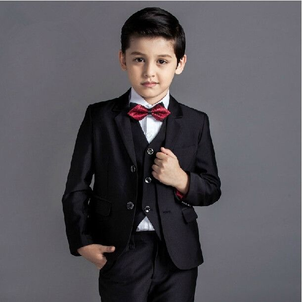 58.50$  Buy now - http://alit85.worldwells.pw/go.php?t=32699581888 - 2015 new arrival fashion baby boys kids blazers boy suit for weddings prom formal black blue dress wedding boy suits