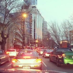 Traffic jam in Perth city @kikuboutique (Kiku Boutique) 's Instagram photos