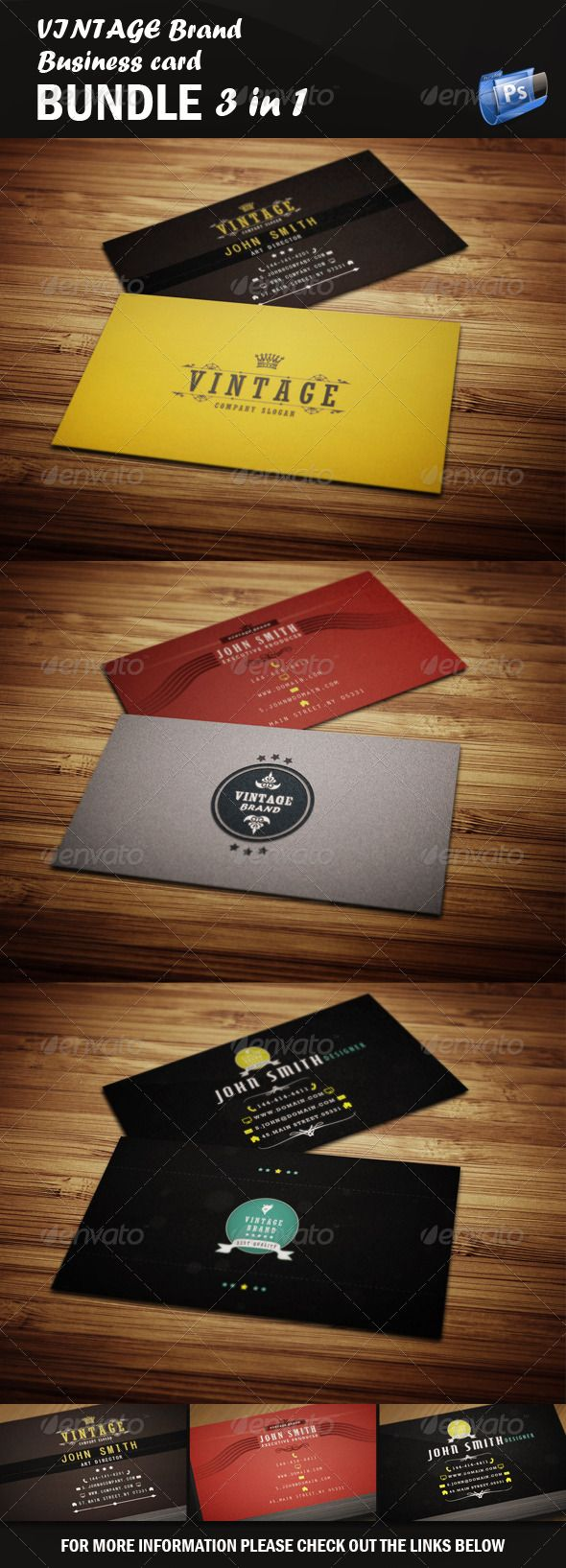 36 best business cards images on pinterest fonts business cards vintage business card bundle magicingreecefo Choice Image