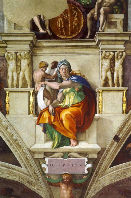 Delphic Sibyl by Michelangelo, Rome circa 1509
