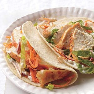 Buffalo Chicken Tacos from RachaelRayMag.com #SundaySupper