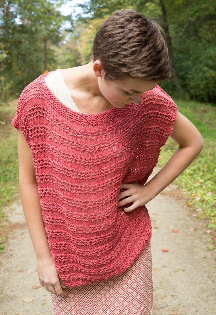 166 best top knitting patterns many free images on pinterest knitting pattern for dyssodia sleeveless tunic top easy dropped lace stitches and simple construction bankloansurffo Images