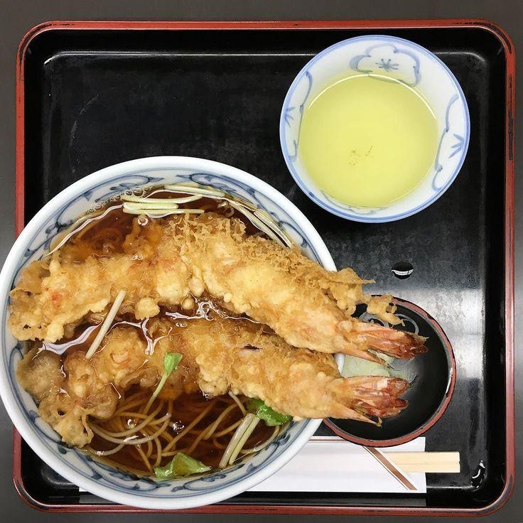 天ぷらそば 今日も寒いので蕎麦で温まる #尾張屋 #天ぷらどば #蕎麦 #浅草