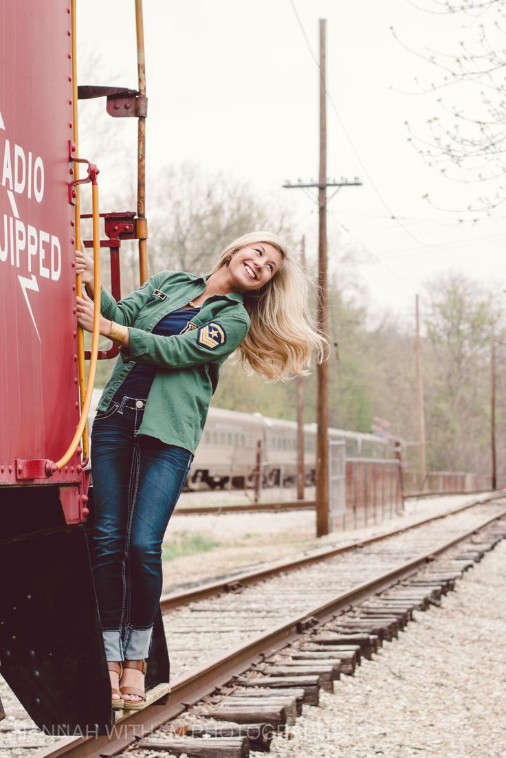Hannah Witham Photography » » AUTUMN H. | 2014 SENIOR  | indiana senior photographer | railroad senior pictures | train senior pictures | hair flip | senior girl poses | portrait poses | model poses | green eyes | blonde hair | unique senior pictures