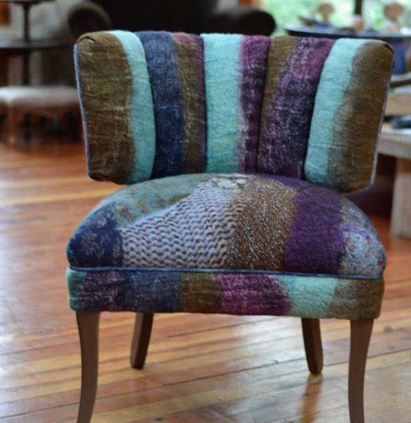 nuno felt covered chair