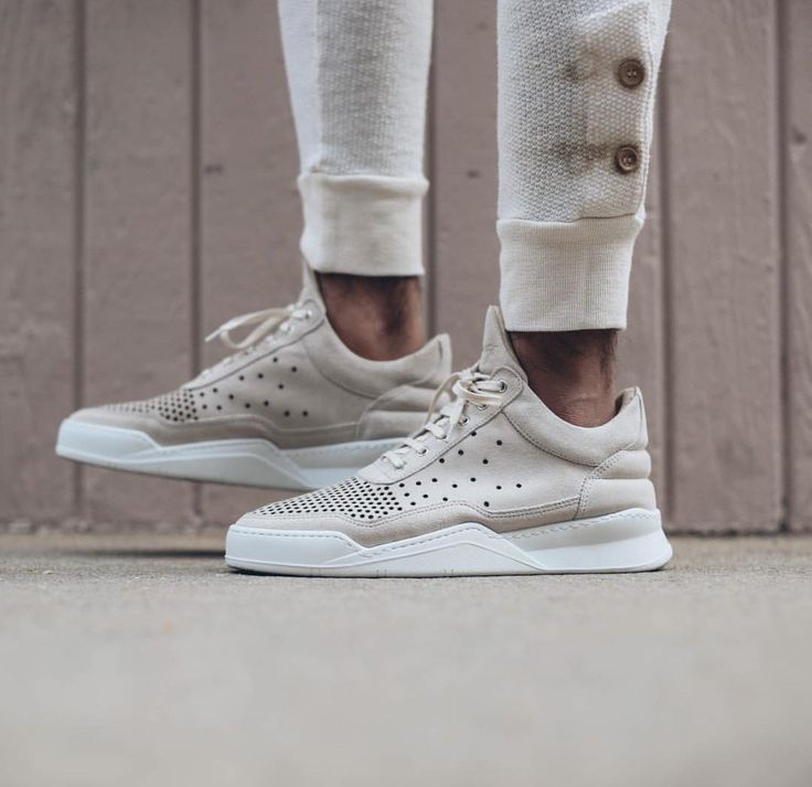 Fancy - Filling Pieces Beige Gradient Perforated Sneakers