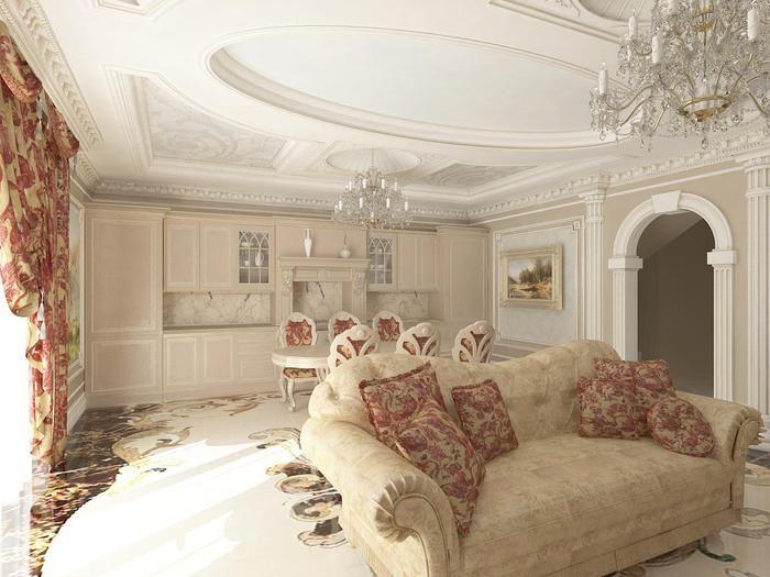 Классический стиль создает не только гармоничную атмосферу  в помещении, но и является признаком материального благополучия и прекрасного вкуса.