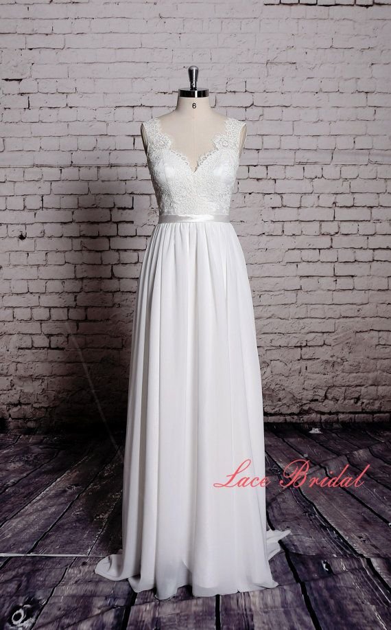 This is gorgeous Sweetheart Wedding Gown Outside Bridal Gown Chiffon by LaceBridal