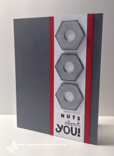 Nuts About You, Really Good Greetings, Maggie Mata, #masculine, #handmadecards, Stampin' Up!