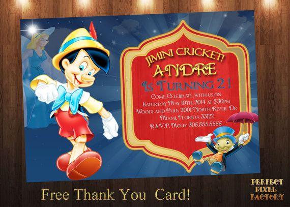 Pinocchio Invitation Pinocchio Birthday Party Boys