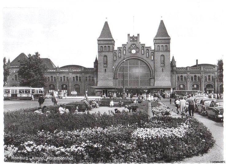 Bundesbahndirektion, Bahnhof Altona. Hamburg-Altona Hauptbahnhof