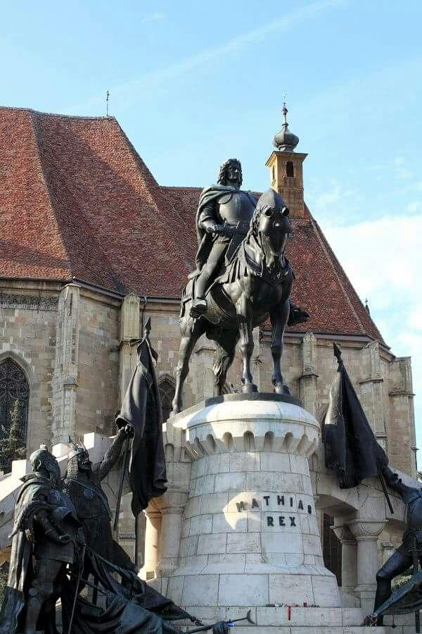 Statue of Matei Corvin in Cluj Napoca, Romania
