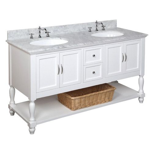 "Gray Option - Beverly 60"" Double Bathroom Vanity Set"